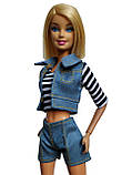 (Не для перепродажи!) Одежда для кукол Барби - курточка, шорты и майка, фото 5
