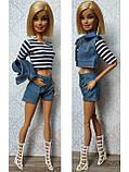 (Не для перепродажи!) Одежда для кукол Барби - курточка, шорты и майка, фото 2