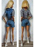 (Не для перепродажи!) Одежда для кукол Барби - курточка, шорты и майка, фото 8