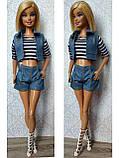 (Не для перепродажи!) Одежда для кукол Барби - курточка, шорты и майка, фото 3