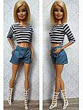 (Не для перепродажи!) Одежда для кукол Барби - курточка, шорты и майка, фото 4