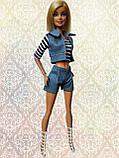 (Не для перепродажи!) Одежда для кукол Барби - курточка, шорты и майка, фото 7