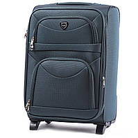 Дорожный тканевый чемодан на колеса Wings 6802 размер S ручная кладь, текстильный зеленый чемодан на 2 колесах