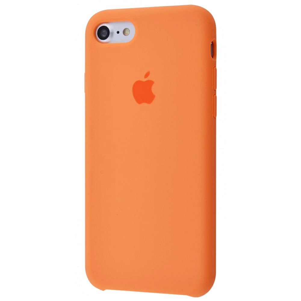 Чехол Silicone Case (Premium) для iPhone 7 / 8 / SE Papaya