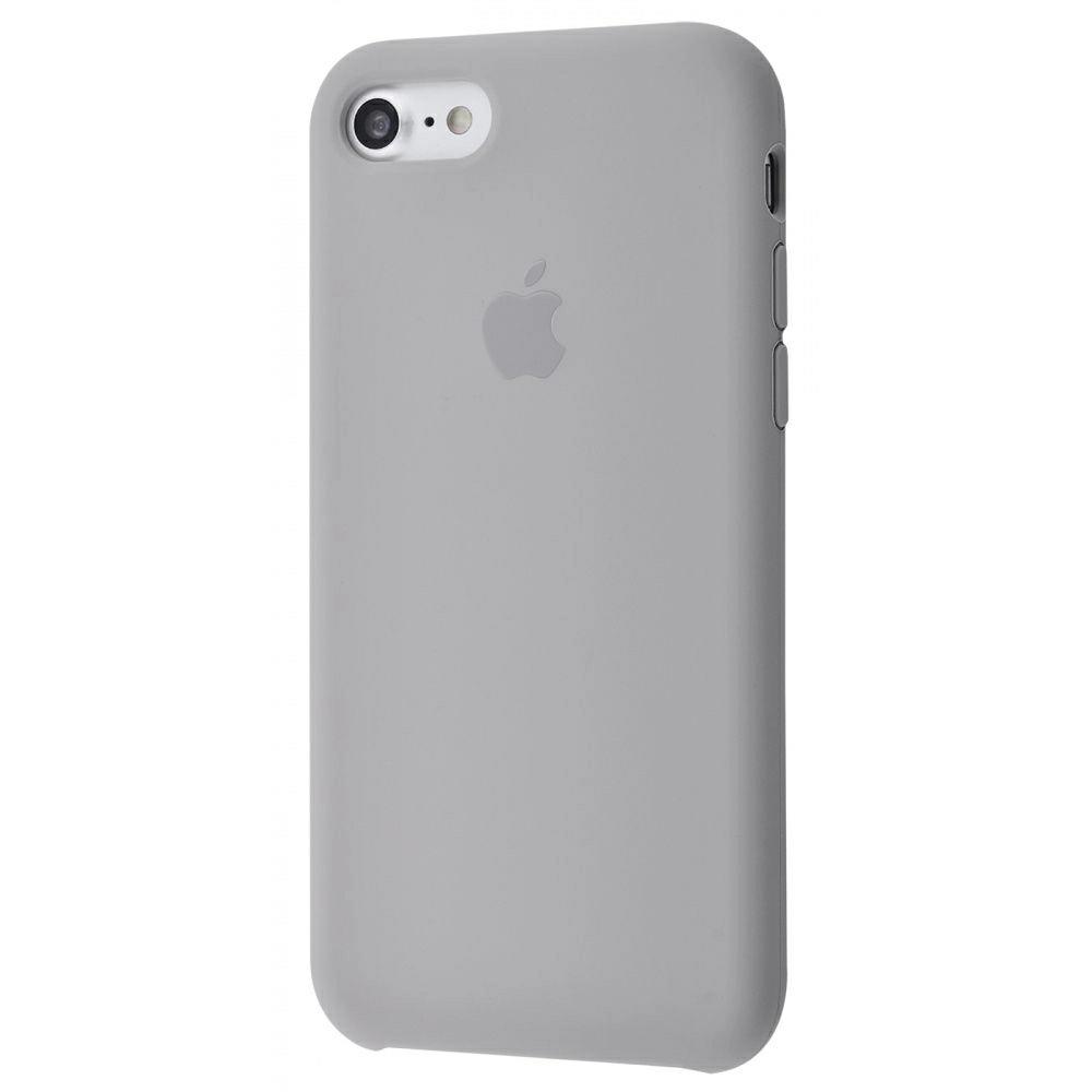 Чехол Silicone Case (Premium) для iPhone 7 / 8 / SE Pebble