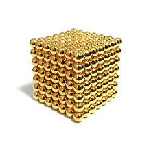 Неокуб (NeoCube) в боксе 216 шариков Золотой