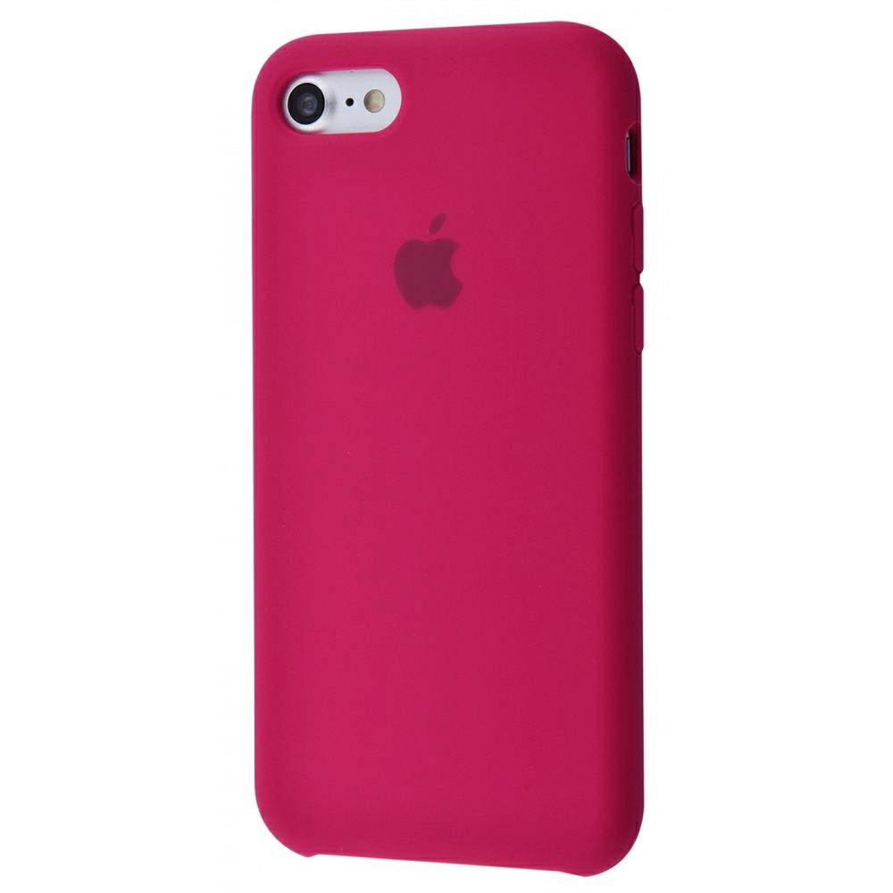 Чехол Silicone Case (Premium) для iPhone 7 / 8 / SE Rose Red
