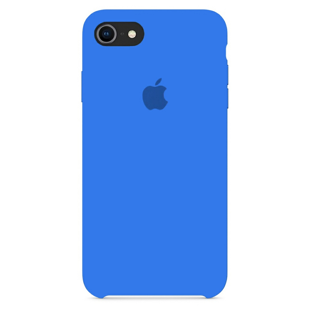 Чехол Silicone Case (Premium) для iPhone 7 / 8 / SE Royal Blue