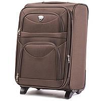 Дорожный тканевый чемодан Wings 6802  размер S (ручная кладь) коричневый