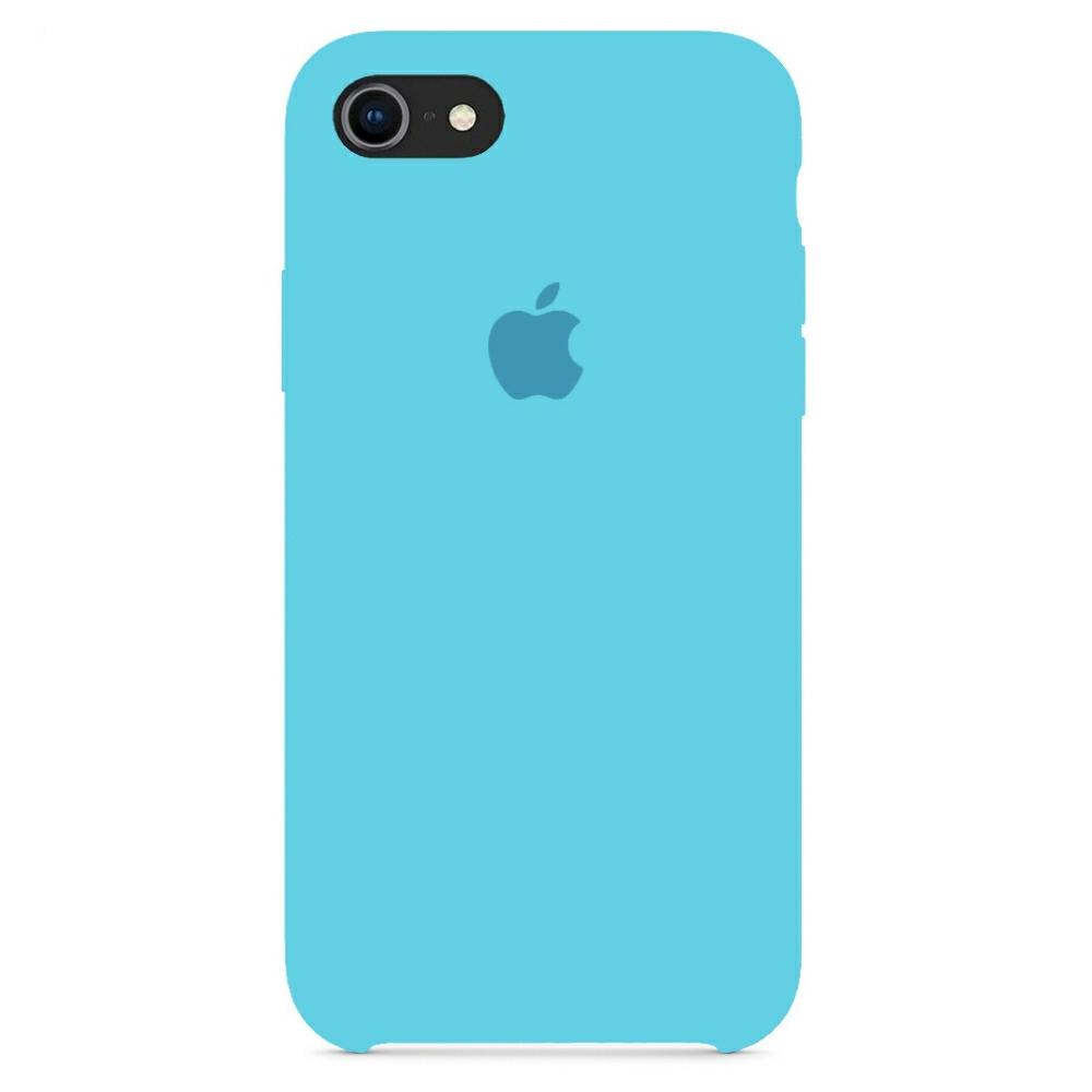 Чехол Silicone Case (Premium) для iPhone 7 / 8 / SE Sea Blue