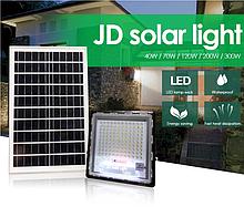 Прожектор JD-7120 120W, IP67, солнечная батарея, пульт ДУ, встроенный аккумулятор, таймер, датчик