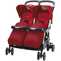Peg-Perego Aria Twin Marte прогулочная коляска для двойни красная