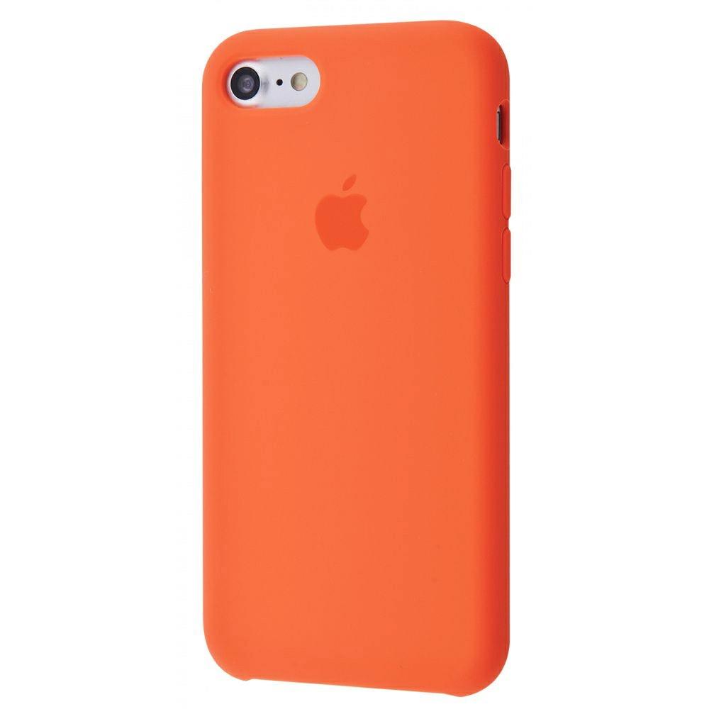 Чехол Silicone Case (Premium) для iPhone 7 / 8 / SE Spicy Orange