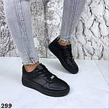 Кроссовки женские черные 299, фото 2