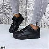 Кроссовки женские черные 299, фото 3