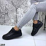 Кроссовки женские черные 299, фото 6
