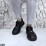 Кроссовки женские черные 299, фото 4