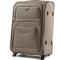 Дорожный тканевый чемодан Wings 6802  размер S (ручная кладь) песочный
