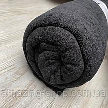 Махровая простынь на резинке 180х200х25 см. Цвет - Черный