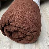 Махровая простынь на резинке 180х200х25 см. Цвет - Шоколадный, фото 3