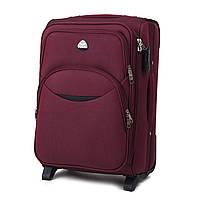 Дорожный тканевый чемодан Wings 1708  размер S (ручная кладь) бордовый