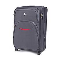 Дорожный тканевый чемодан Wings 1708  размер S (ручная кладь) серый