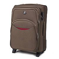 Дорожный тканевый чемодан Wings 1708  размер S (ручная кладь) песочный