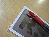 Наклейка s надпись RS 80х50х1мм сплошная силиконовая полоска фон серый на авто надпись РС медальон, фото 2