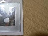 Наклейка s надпись RS 80х50х1мм сплошная силиконовая полоска фон серый на авто надпись РС медальон, фото 4