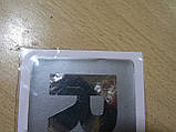 Наклейка s надпись RS 80х50х1мм сплошная силиконовая полоска фон серый на авто надпись РС медальон, фото 5