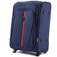 Дорожный тканевый чемодан Wings 1706  размер S (ручная кладь) синий