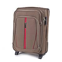 Дорожный тканевый чемодан Wings 1706  размер S (ручная кладь) песочный
