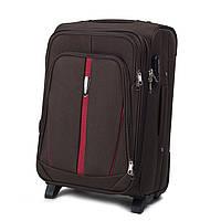 Дорожный текстильный чемодан на 2 колеса Wings 1706  размер S (ручная кладь) коричневый