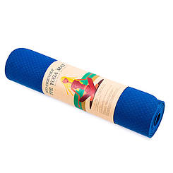 Коврик для йоги и пилатеса (1830 x 610 x 6 мм.) синий
