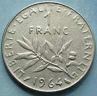 Франция 1 франк 1964—2001 год. Пятая республика