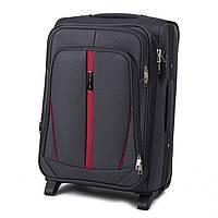 Дорожный тканевый чемодан Wings 1706  размер S (ручная кладь) серый
