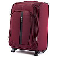 Дорожный тканевый чемодан Wings 1706  размер S на 2 колеса (ручная кладь) бордовый