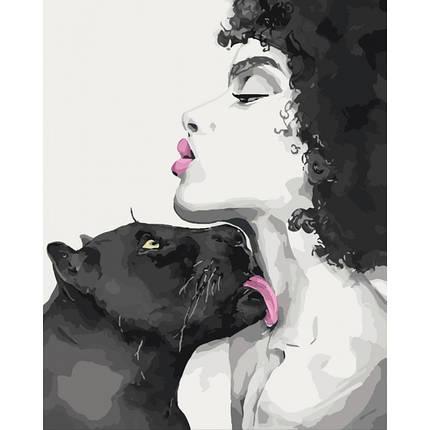 Картина по номерам - Поцелуй пантеры Идейка 40*50 см. (КНО4506), фото 2