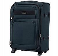 Дорожный тканевый чемодан Wings 1605  размер S (ручная кладь) зеленый