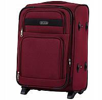 Дорожный тканевый чемодан Wings 1605  размер S (ручная кладь) бордовый