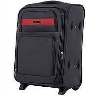 Дорожный тканевый чемодан Wings 1605  размер S (ручная кладь) серый
