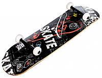 """Скейт деревянный, Скейтборд """"Skate """" Maraton натуральный канадский клен дека 79х20 см, отличное качество"""
