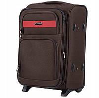 Дорожный тканевый чемодан Wings 1605  размер S (ручная кладь) коричневый