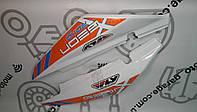Пластик под сиденье Geon X-Road Light 200/250  (Комплект белый с оранжевой наклейкой)
