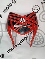 Обтекатель фары Geon X-Road Light 200/250 (Красный с черными наклейками)