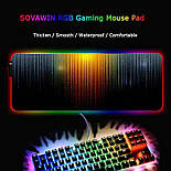 Большой игровой RGB коврик для мыши с светодиодной подсветкой 40 * 90 см, фото 2