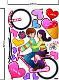 Интерьерная наклейка на стену Пара на велосипеде (mAY709), фото 4