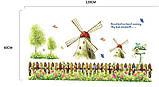 Интерьерная наклейка на стену Ветряные Мельницы (ay907), фото 2