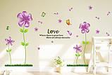 Интерьерная наклейка на стену Сиреневые цветы (mAY650B), фото 3