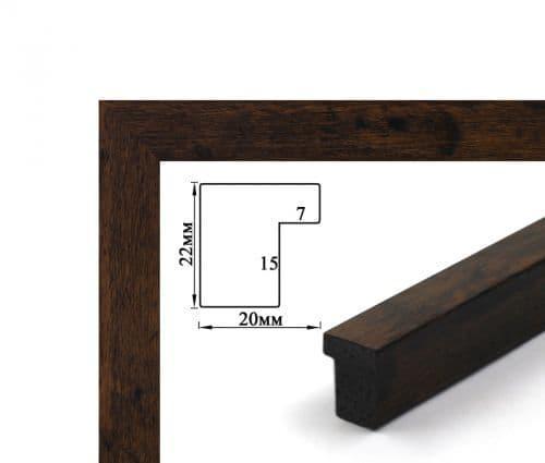Багетная рамка (темное дерево 2 см)